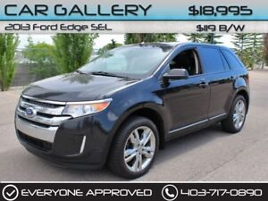 2013 Ford Edge SEL w/Sunroof, Leather, Navi $119B/W QUICK  EASY