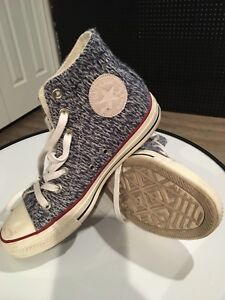 """Wmns size 7, Converse """"sweater"""" hightops"""