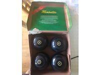 Lawn Bowls - Henselite set of 4