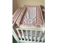 Mothercare cotbed changing topper