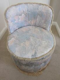A Tub Shaped Small Chair which is ideal for a bedroom