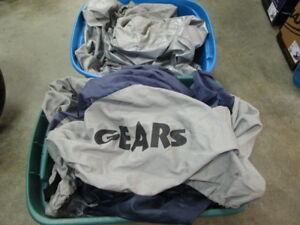 ASSORTMENT OF MOTORCYCLE COVERS VARIOUS SIZES