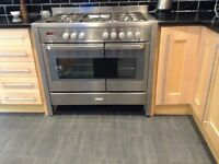 Electrolux Gusto duel cooker brushed stainless range with rotisserie amazing condition