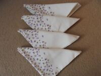 SET OF 4 PRETTY NAPKINS FROM NEXT