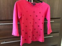 Fancy long sleeved cotton top 10-11 yrs