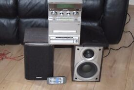 PANASONIC CD/REMOTE/RADIO/CASSETTE/AUX IN PLAY IPOD PHONE MUSIC