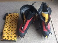 Scarpa phantom boots size 45 and Grivel g14 crampons