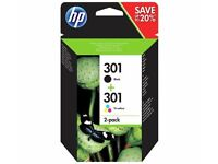 2 X HP301 2-PACK BLACK & COLOUR - BRAND NEW IN BOX