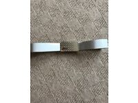 Ladies white Guess belt
