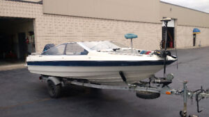 16 foot Bayliner Capri Modified for Fishing