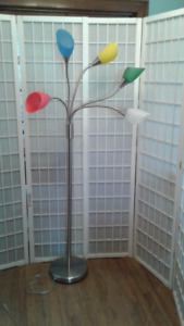Chrome Floor Lamp with Five lights
