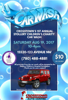 CROSSTOWN'S 1ST ANNUAL STOLLERY CHILDREN'S CHARITY CAR WASH