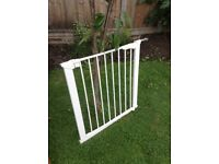 3 baby gates (2 Baby Dan) plus one other with width extenders for two