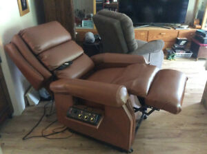 Leather Motorized recliner and massage chair