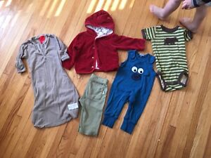 Organic  cotton clothing various sizes (0-12 month)