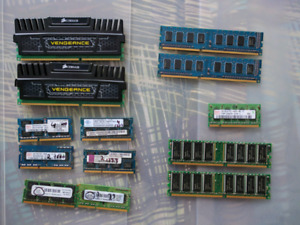 Various RAM - $5/GB DDR2/DDR3 - (DDR available)