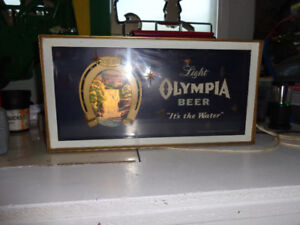 Olympia Light Up Beer Sign