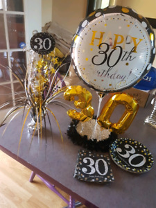 30th birthday party supplies decorations