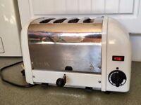 Dualit 4-Slot Vario Toaster 40352 - Silver & White