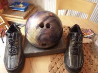 Bowling Ball & Shoes