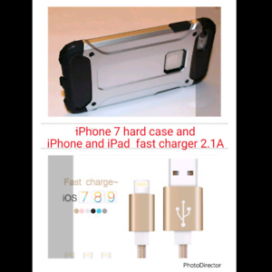 iPhone 7  Hard case and Fast charger cable for iPhone 7,6,5