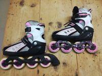 SFR VORTEX inline girls skates size 12-2 and pads