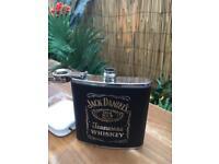 Jack Daniels Metal & Leather Exclusive Pocket Metal Suit Bottle