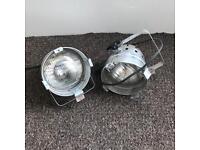 3 x vintage spot lights