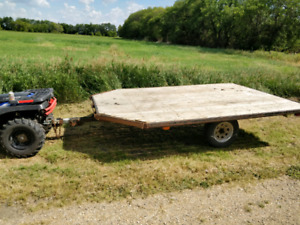 8'x12' deck over with 3500 lbs axle