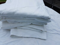 White cotton table cloths