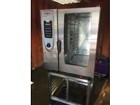 Rational scc101 10 grid combi oven steam cooker serviced tested kitchen equipment