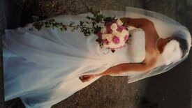 """Maggie Sottero wedding dress, """"Vivienne Marie"""" in Ivory. fairytale princess. Includes veil and hoop."""