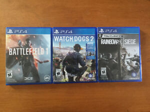 PlayStation 4 games, great condition