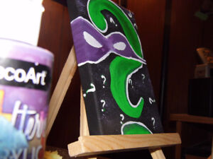 Paint on the wall creations! RIDDLE ME THIS!