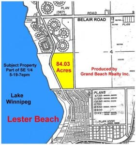 84 Acres of Prime Property in Lester Beach, next to Grand Beach