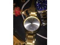 gold emporio armani watch