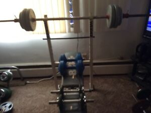 Bench, Weight and Bars
