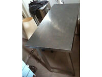 stainless steel table for office or catering
