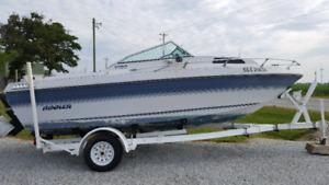 1987 Rinker V190 boat & trailer