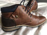 Men's brown leather shoes size 8