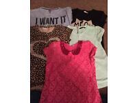 5 girls tshirts. Age 8-9