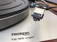 THORENS TD 160 super turntable with SME tonearm and SHURE cartridge