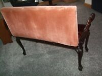 Vintage piano stool - double duet stool with hinged lid for music storage etc vgc