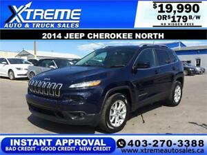 2014 JEEP CHEROKEE NORTH $179 Bi-Weekly APPLY NOW DRIVE NOW