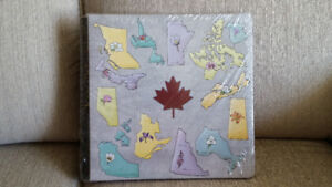 CM CANADIAN PROVINCES ALBUM w/ Pages & Protectors