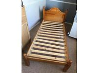 Bed base pine