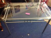 Dining table with Glass top (no chairs) £30