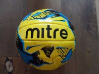 Mitre Football Ball - Size 5 - Official Size And Weight Yellow and Blue