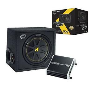 """Kicker 12"""" Sub and 4 Channel Amp Package with INSTALLATION"""