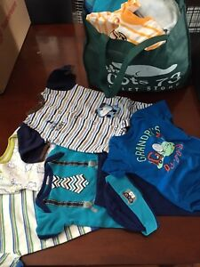 Bag of baby boys clothes sizes 0-18 months EUC